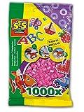 SES Creative - Cuentas para planchar, color rosa (00708)