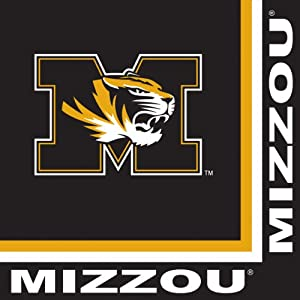 Buy Creative Converting Missouri Tigers Luncheon Napkins (20 Count) by Creative Converting