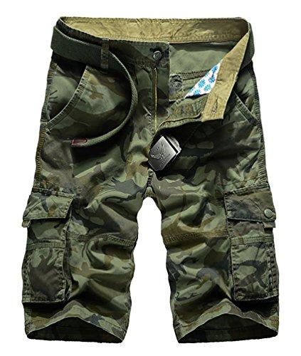 CeRui Cargo Pantaloncini Vintage Da Uomo Stile Militare Pantaloni Carhartt Cargo Taglia 36 Army Green