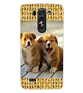 ColourCraft Cute Puppies Design Back Case Cover for LG G3 S