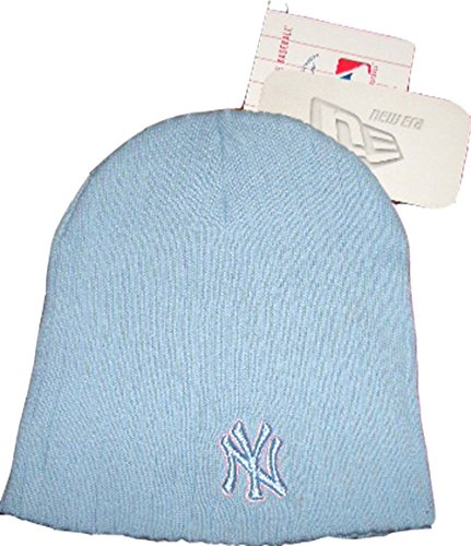 new-era-berretto-beanie-woll-leight-weight-ny-logo-major-league-baseball-azzurro-100-cotone-taglia-u