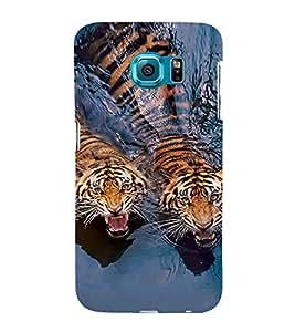 EPICCASE Swimming Tigers Mobile Back Case Cover For Samsung Galaxy S6 Edge Plus (Designer Case)