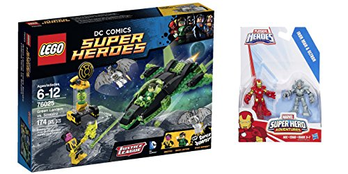 LEGO Super Heroes Green Lantern vs. Sinestro 174 Pcs & free Gifts Super Hero Adventures Iron Man and Ultron Figures (Colors may vary) Toys