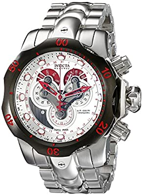 Invicta Men's 14466 Venom Analog Display Swiss Quartz Silver Watch