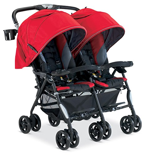 Combi Twin Cosmo Stroller, Red front-49327