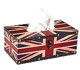 Life Connection 国旗 イギリス ティッシュ BOX アンティーク調 レトロ アクセント
