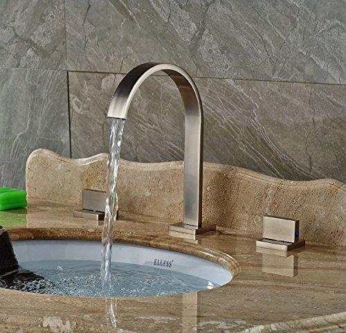 Rozin-Widespread-3pcs-Bathroom-Sink-Faucet-Double-Knobs-Basin-Vanity-Mixer-Tap