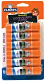 Elmers Disappearing Purple School Glue Sticks, 0.21 oz Each, 6 Sticks per Pack (E1560)