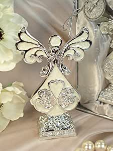 Amazon Wedding Favors Medium Ivory Silver Angel With Base Toys Amp Games