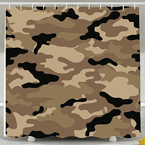 Military Camouflage Cool Bathroom Shower Curtain - With Hooks White 72*78inch