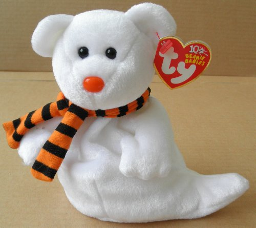 TY Beanie Babies Quivers the Ghost Bear