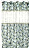 Hookless PEVA Shower Curtain - Mosiac Jade