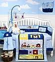 Railroad Train Baby Boy Crib Nursery Bedding Set 10pcs