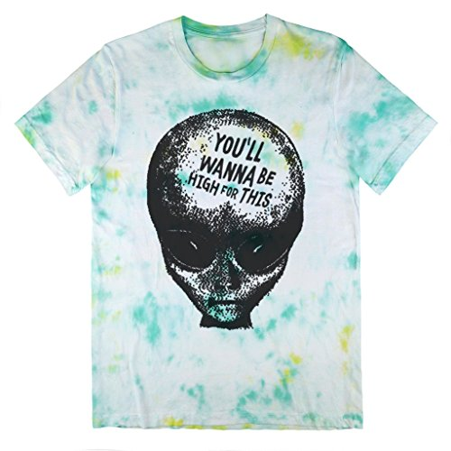 Killer Condo Alien Pastel Grunge You'll Wanna Be High Unisex Tie Dye T-Shirt Small (Grunge Tie Dye compare prices)