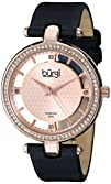 Burgi Womens BUR104RG Rose Gold-tone Diamond and Crystal