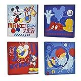 Disney Mickey Mouse Canvas Wall Art (4-Piece)