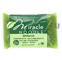 Miracle Noodle Shirataki Pasta, Spinach Angel Hair, 7-Ounce (Pack of 6)