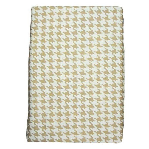 Glenna Jean Central Park Fitted Sheet, Tan/White