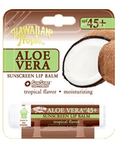 Hawaiian Tropic Aloe Vera Sunscreen Lip Balm SPF 45+ - Tropi