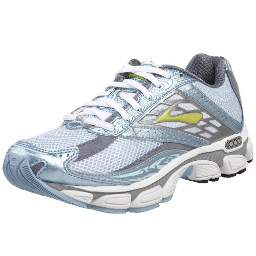 Brooks Women's Glycerin 8 Neutral Running Shoe,White/Sky Blue/Pavement,10 D US