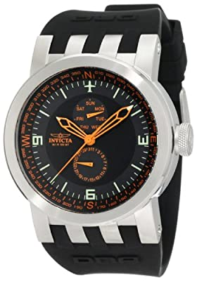 Invicta Men's 10395 DNA Vintage Black Silicone Watch