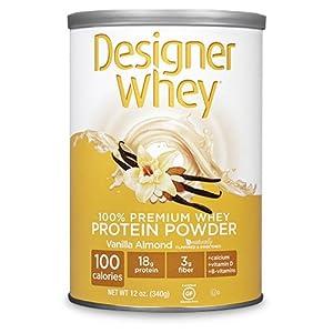Designer Whey Protein Powder 12 oz Vanilla Almond