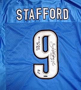 Matthew Stafford Autographed Hand Signed Detroit Lions Jersey 2011 - 5,038 Yds, 41... by Hall of Fame Memorabilia