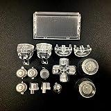 New Dpad L2 R2 L1 R1 Trigger Button Buttons Dpad Thumbsticks for PS4 Pro Slim JDM 040 JDS040 JDM 050 JDS050 4.0 5.0 Versions Controller - Clear