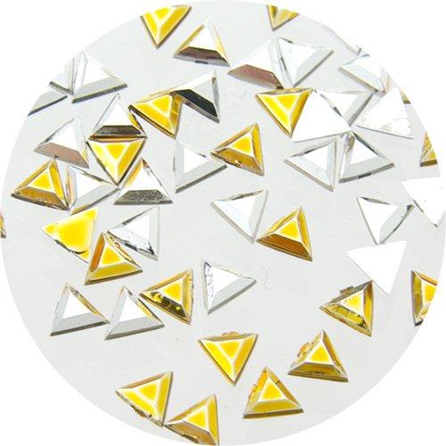 サルルプロジェクトミニミニスタッズ 三角形3.0mm シルバーゴールドMIX