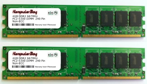Komputerbay 8GB 2X 4GB DDR2 667MHz PC2-5300 PC2-5400 DDR2 667 (240 PIN) DIMM Desktop Memory