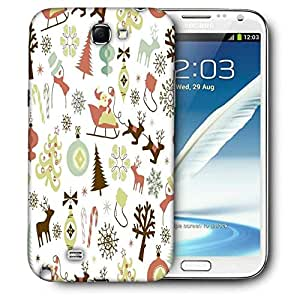 Snoogg Christmas Season Printed Protective Phone Back Case Cover For Samsung Galaxy Note 2 / Note II