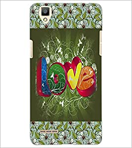 PrintDhaba Love D-3070 Back Case Cover for OPPO F1 (Multi-Coloured)