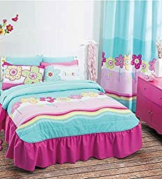 NEW Summer Fun Teens Bedspread Set and Sheet Set (Twin)