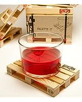 Progettazione pallet sottobicchieri in legno - set di 5 sottobicchieri in legno