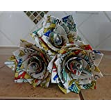 Flowers for Him or Her Comic Themed Duct Tape Roses Unique Gift Idea