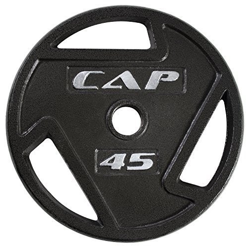 CAP Barbell 2-Inch Olympic Grip Plate, 45-Pounds (2 Inch Cast Iron compare prices)