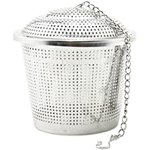 Tea Strainer, Newness 304 Food Grade Stainless Steel Tea Strainer With Lid And Extended Chain - Tea Infuser /...