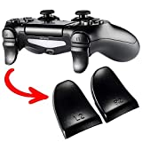 eXtremeRate L2 R2 Buttons Trigger Extenders Game Improvement for PS4 PS4 Pro PS4 Slim Controller (Black) (Color: Black, Tamaño: JDM-001/011/040/050/055)