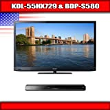 "Sony KDL-55HX729 - 55"" BRAVIA 3D LED-backlit LCD TV + Sony BDP-S580 - 3D Bl ...."