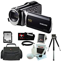 Samsung HMX-F90 5MP HD Camcorder in Black with 16GB Deluxe Accessory Kit from Samsung