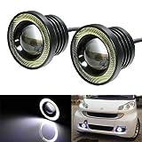 #8: Benjoy 2Pc 3.5Inch Car Fog Lamp Angel Eye DRL Led Light For Hyundai Santro Xing