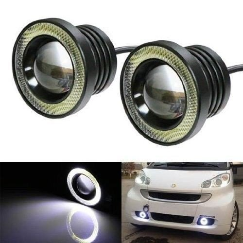 Motoway 2Pc 3.5Inch Car Fog Lamp Angel Eye DRL Led Light For Ford Fiesta