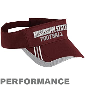 NCAA adidas Mississippi State Bulldogs Maroon Players Adjustable Performance Visor
