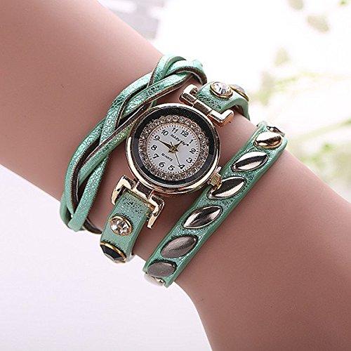 darpy (TM) New Fashion Luxury braccialetto al quarzo orologio casual donna donne polso Relogio feminino Reloj mujer Orologio, Mint Green