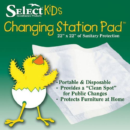 Select Kids Disposable Changing Pads Small, 22x22 in., Pack/30
