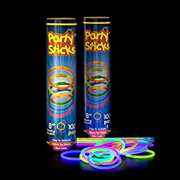 Holiday Decorations. This Glow Sticks, Rings, Necklaces, Bracelets Light In The Dark. Great For Halloween, Christmas, Wedding, Camping & Raves Party. Best Outdoor & Indoor Supplies For Home & Office.