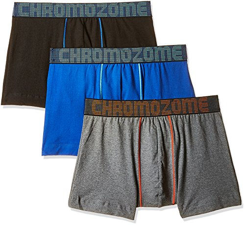 Chromozome Men's Cotton Boxer (Pack of 3) (8902733343565_RF3_Small_Black, Blue and Charcoal)  available at amazon for Rs.449