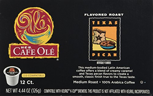 HEB Cafe Ole Coffee K-Cup 12ct Box (Pack of 4) (48 K-Cups ...