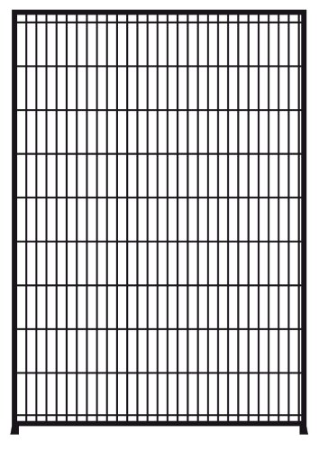 Unipanel Mesh 0.5m x 1.6m high black garden fencing panel - build your own fence/enclosure
