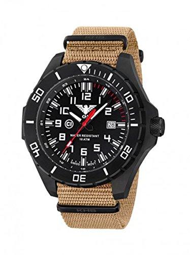 KHS Tactical orologio uomo Landleader Black Steel KHS.LANBS.NT
